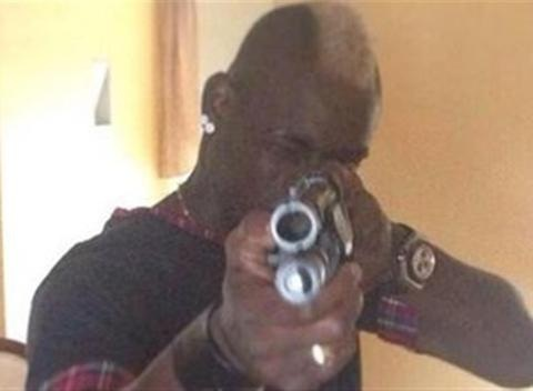 News video: Mario Balotelli Brandishes 'Shotgun' Online