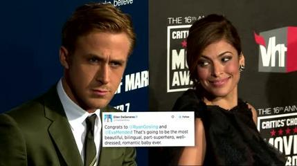 News video: Has Ellen DeGeneres Confirmed that Eva Mendes is Pregnant?